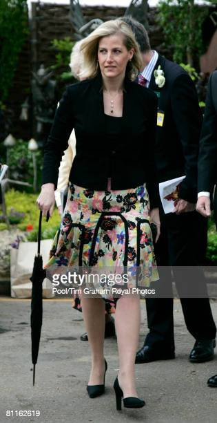 Sophie Countess of Wessex visits the RHS Chelsea Flower Show on May 19 2008 in London England