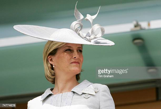 Sophie Countess of Wessex watches the first day of Royal Ascot Races on June 19 2007 in Ascot England