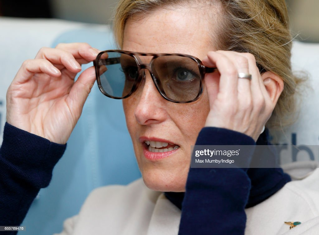 sophie-countess-of-wessex-wears-a-pair-of-3d-glasses-as-she-tours-the-picture-id655769476