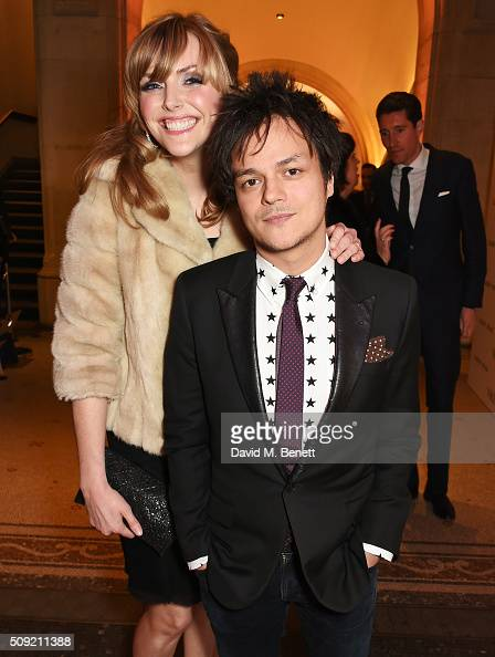 Sophie Dahl and Jamie Cullum attend a private view of 'Vogue 100 A Century of Style' hosted by Alexandra Shulman and Leon Max at the National...