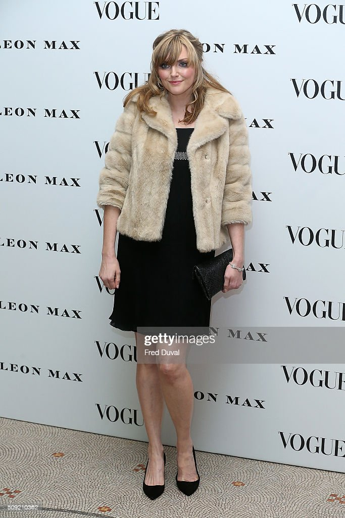<a gi-track='captionPersonalityLinkClicked' href=/galleries/search?phrase=Sophie+Dahl&family=editorial&specificpeople=209092 ng-click='$event.stopPropagation()'>Sophie Dahl</a> attends the opening of Vogue100 : A century of Style at National Portrait Gallery on February 9, 2016 in London, England.