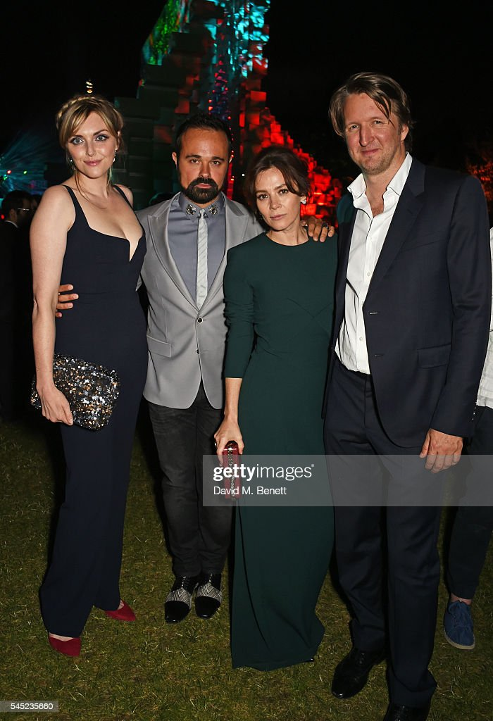 Sophie Dahl, Evgeny Lebedev, Anna Friel and Tom Hooper attend The Serpentine Summer Party co-hosted by Tommy Hilfiger on July 6, 2016 in London, England.