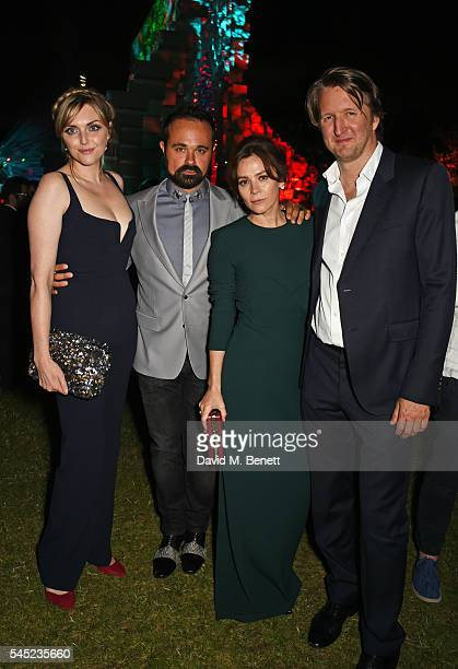Sophie Dahl Evgeny Lebedev Anna Friel and Tom Hooper attend The Serpentine Summer Party cohosted by Tommy Hilfiger on July 6 2016 in London England