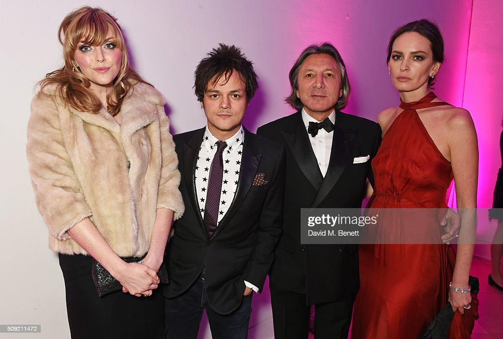 <a gi-track='captionPersonalityLinkClicked' href=/galleries/search?phrase=Sophie+Dahl&family=editorial&specificpeople=209092 ng-click='$event.stopPropagation()'>Sophie Dahl</a>, <a gi-track='captionPersonalityLinkClicked' href=/galleries/search?phrase=Jamie+Cullum&family=editorial&specificpeople=171467 ng-click='$event.stopPropagation()'>Jamie Cullum</a>, Leon Max and Yana Max attend a private view of 'Vogue 100: A Century of Style' hosted by Alexandra Shulman and Leon Max at the National Portrait Gallery on February 9, 2016 in London, England.