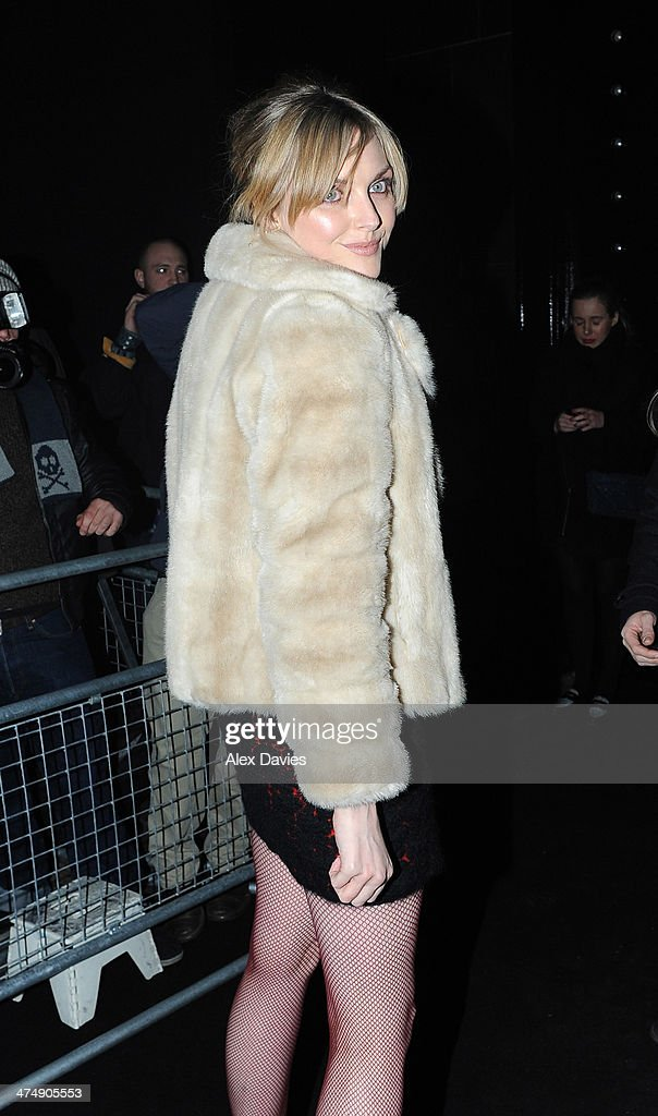 Sophie Dahl sighting during the BRIT awards on February 19, 2014 in London, England.