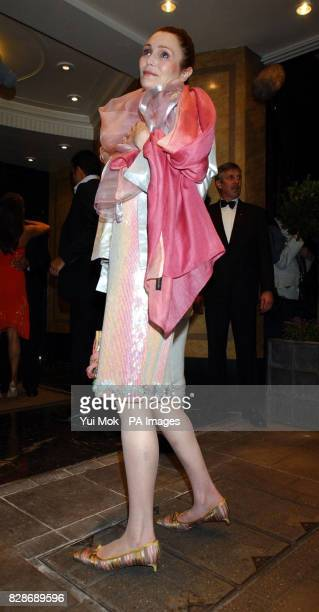 Sophie Dahl's mother Tessa arriving at the Ballroom Entrance of The Dorchester Hotel in London for David Gest's 50th birthday party