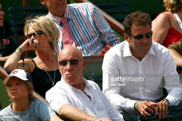 Sophie DAVANT et Pierre SLED pendant le match Carlos MOYA / Rafael NADAL Roland Garros 2007 Jour 11