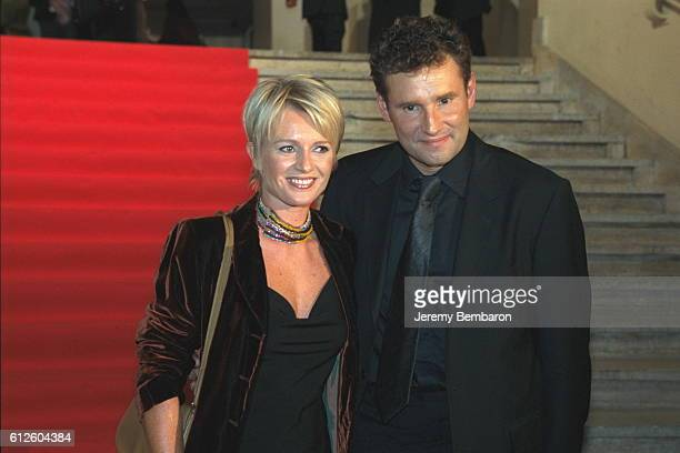 Sophie Davant with her husband Pierre Sled