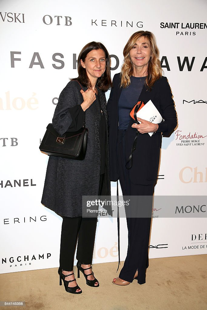 Sophie Delafontaine and Nathalie Dufour attend the ANDAM Fashion Award Coktail Party at Ministere de la Culture on July 1, 2016 in Paris, France.