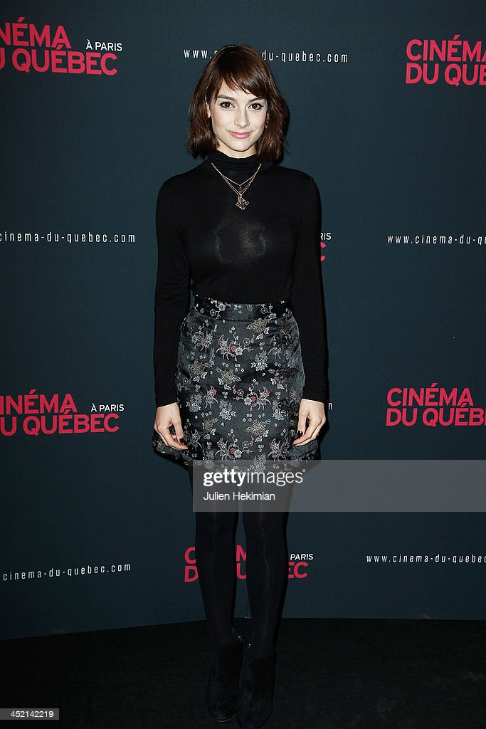 Sophie Desmarais attends 'Cinema Du Quebec' Opening Party In Paris at Forum Des Images on November 26, 2013 in Paris, France.