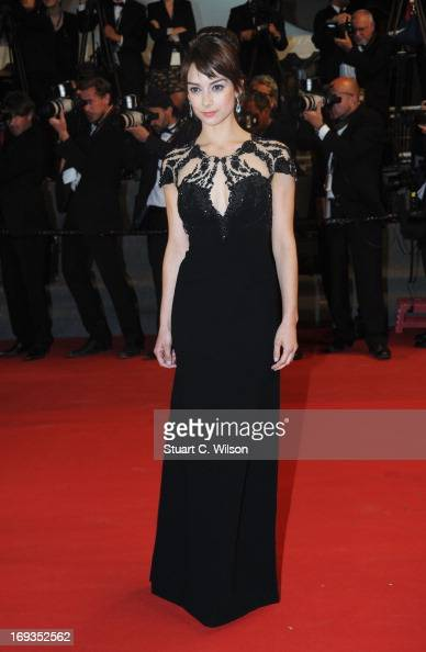 Sophie Desmarais attends the 'Sarah Prefere La Course' premiere during The 66th Annual Cannes Film Festival at Palais des Festivals on May 23 2013 in...