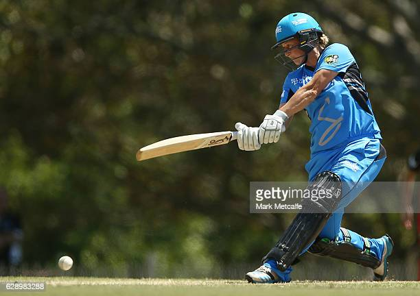 Sophie Devine of the Strikers bats Sophie Devine of the Strikers bats during the Women's Big Bash League match between the Melbourne Renegades and...