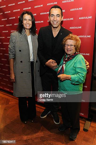 Sophie Djorkaeff Youri Djorkaeff and Dr Ruth Westheimer attend Martine and Prosper Assouline host Jim Nelson and Chris Mitchell to celebrate the...
