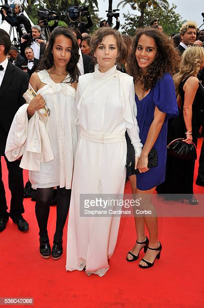 Sophie Duez and friends at the premiere of 'What Just Happened ' during the 61st Cannes Film Festival