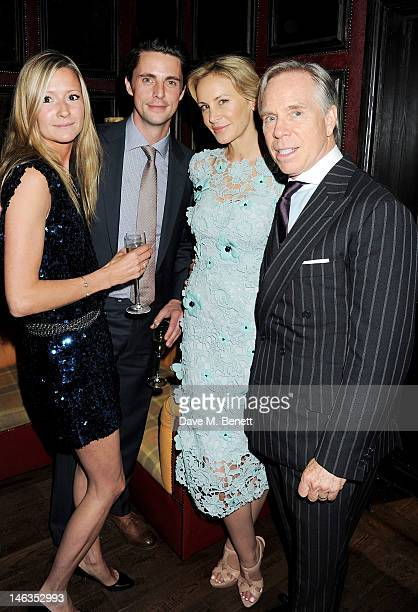 Sophie Dymoke Matthew Goode Dee Ocleppo and Tommy Hilfiger attend as Tommy Hilfiger hosts a cocktail party to celebrate the launch of London...