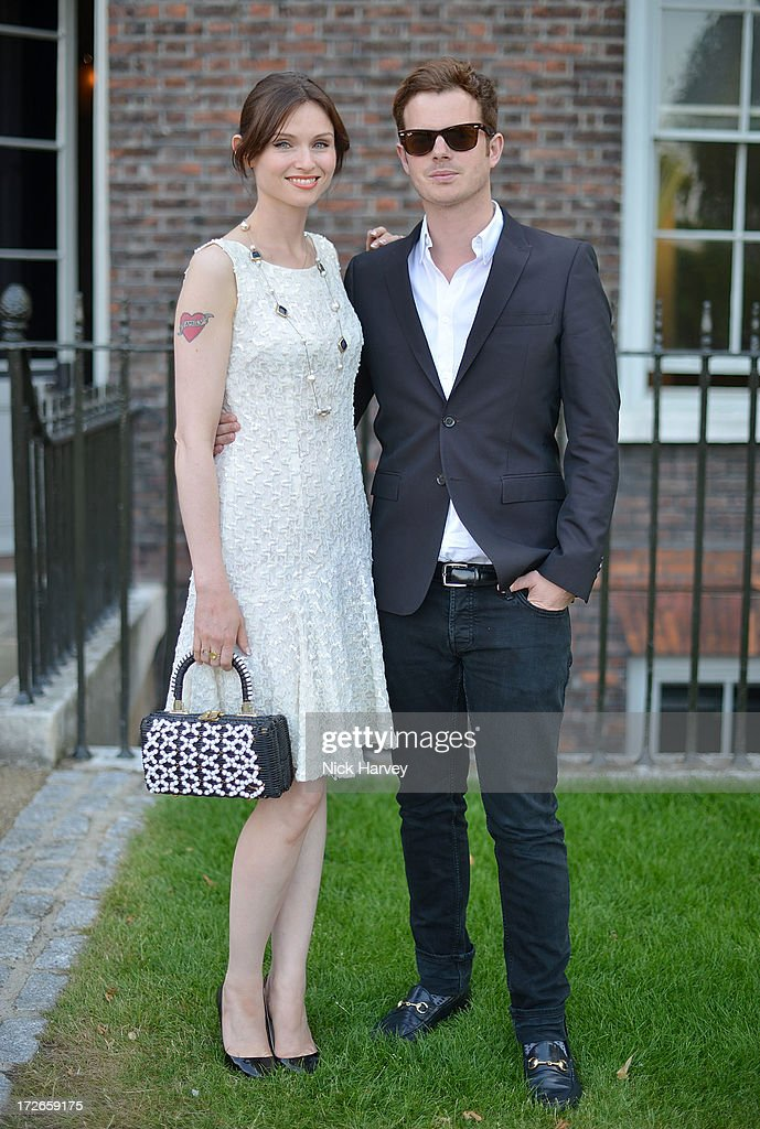 Sophie Ellis Bexter and Richard Jones attends the launch party for the Fashion Rules exhibition, a collection of dresses worn by HRH Queen Elizabeth II, Princess Margaret and Diana, Princess of Wales at Kensington Palace on July 4, 2013 in London, England.