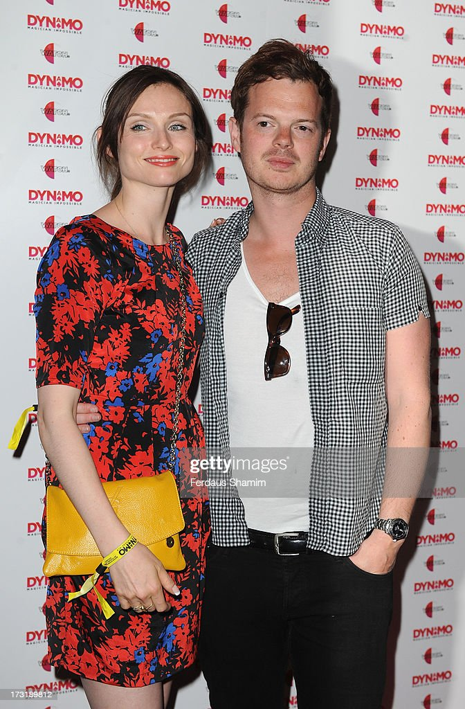 Sophie Ellis Bextor and Richard Jones attend Dynamo's secret London gig on July 9, 2013 in London, England.