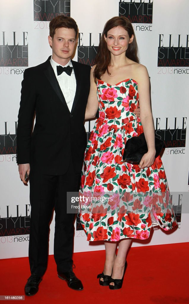 Sophie Ellis Bextor and Richard Jones attend Elle Style Awards Outside Arrivals on February 11, 2013 in London, England.