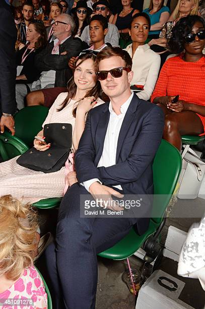 Sophie Ellis Bextor and Richard Jones attend the evian Live Young suite on the opening day of Wimbledon at the All England Lawn Tennis and Croquet...