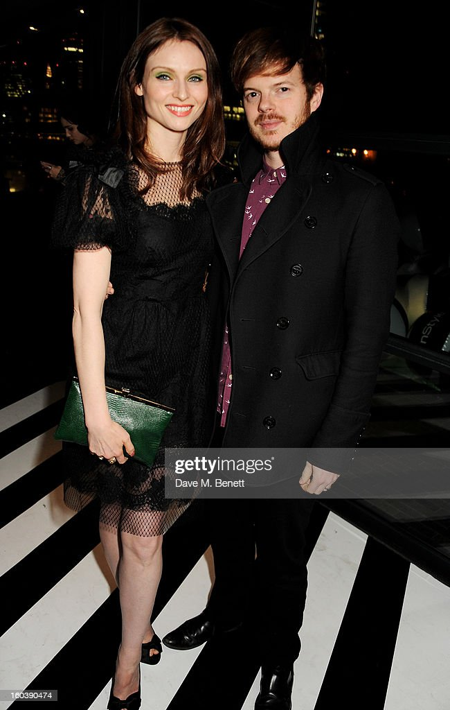 Sophie Ellis Bextor (L) and Richard Jones attend the InStyle Best Of British Talent party in association with Lancome and Avenue 32 at Shoreditch House on January 30, 2013 in London, England.