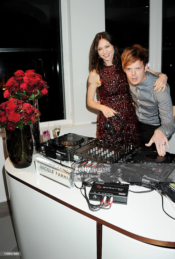 Sophie Ellis Bextor (L) and Richard Jones attend the opening of the Nicole Farhi global flagship store on September 19, 2011 in London, England.