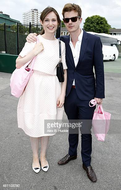 Sophie Ellis Bextor and Richard Jones seen leaving Wimbledon on June 23 2014 in London England