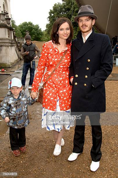 Sophie Ellis Bextor and Richard Jones with their son attend the House Festival at Chiswick House on July 5 2007 in London England