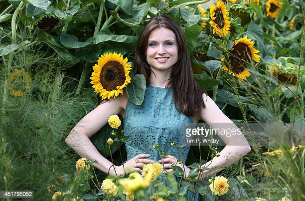 Sophie Ellis Bextor attends the '50 Years RHS Britain in Bloom' garden during the Hampton Court Palace Flower Show at Hampton Court Palace on July 7...
