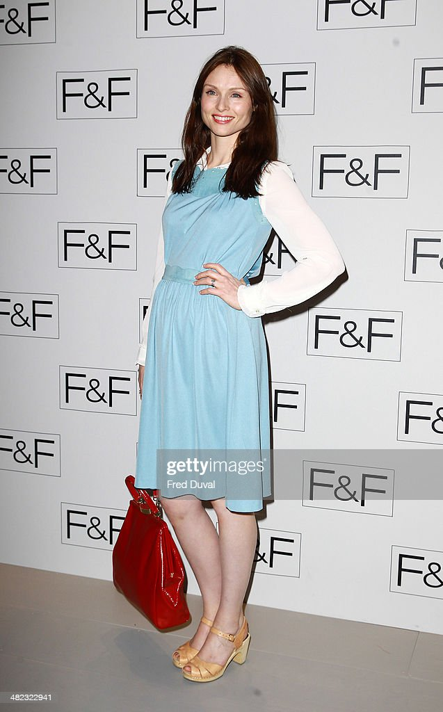 Sophie Ellis Bextor attends the F&F aw14 Fashion show at Somerset House on April 3, 2014 in London, England.
