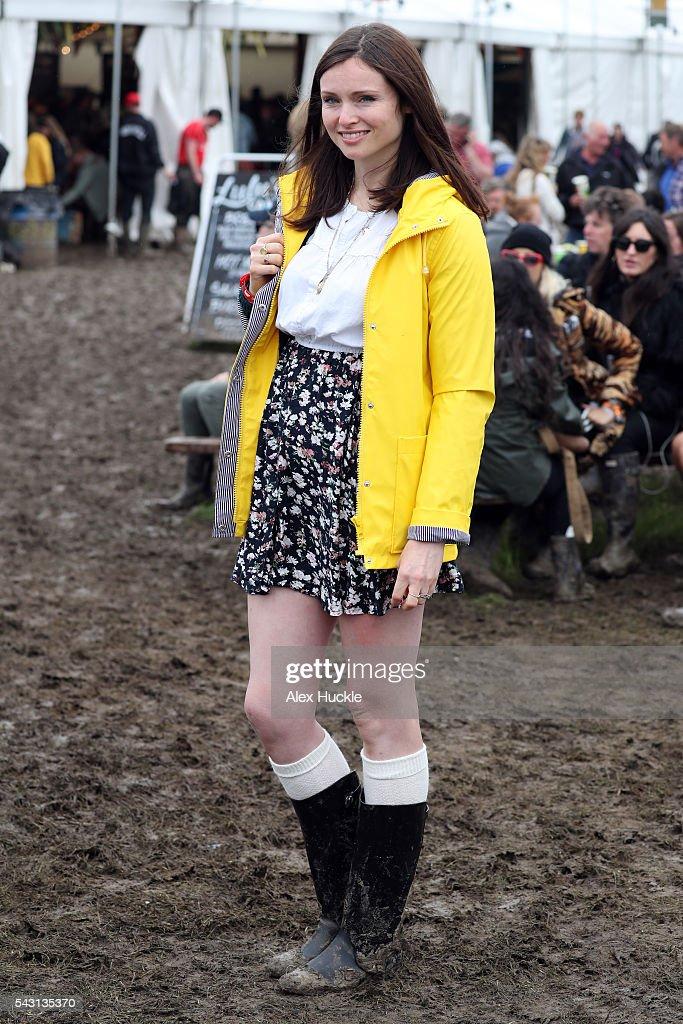 Sophie Ellis Bextor attends the Glastonbury Festival at Worthy Farm, Pilton on June 26, 2016 in Glastonbury, England.