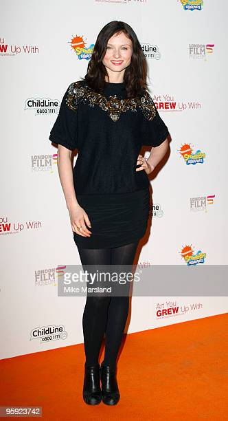 Sophie Ellis Bextor attends the launch of the SpongeBob FancyPants charity auction on January 21 2010 in London England