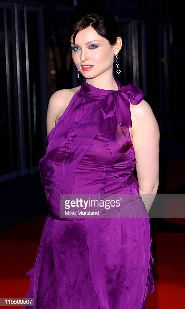 Sophie Ellis Bextor during The 2004 Brit Awards Arrivals at Earls Court in London Great Britain