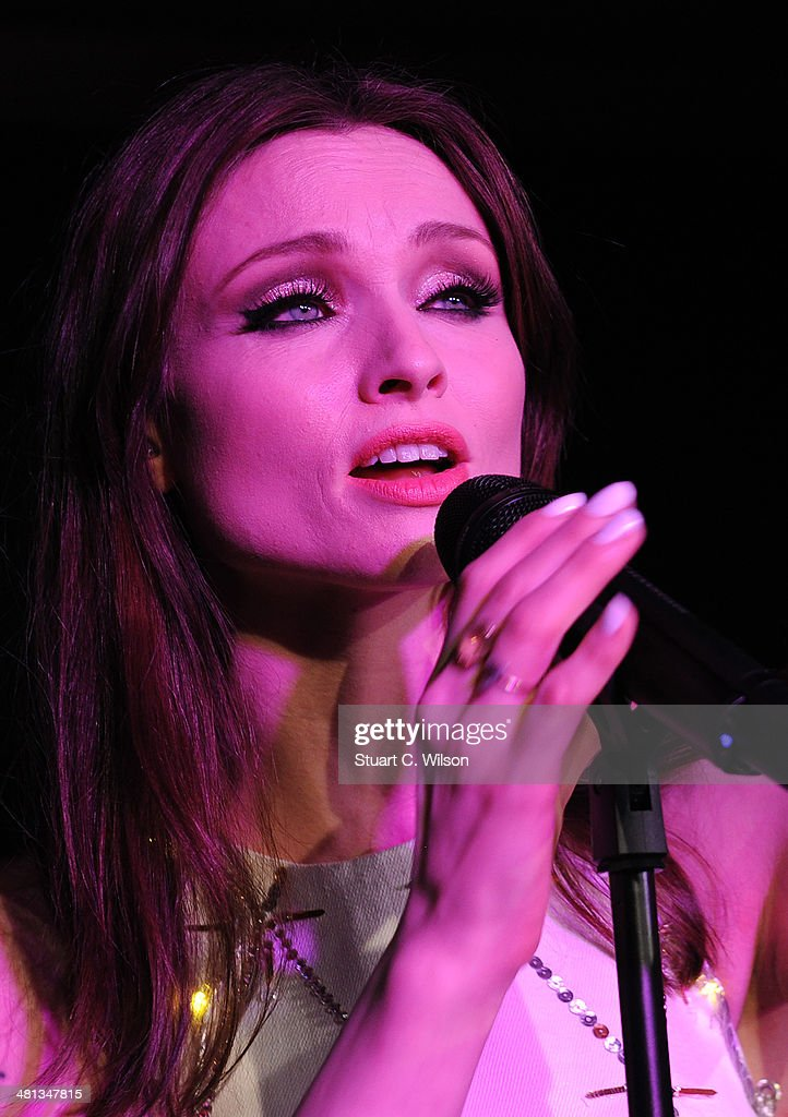 Sophie Ellis Bextor performs by candlelight for the WWF Earth Hour at Southbank Centre on March 29, 2014 in London, England.