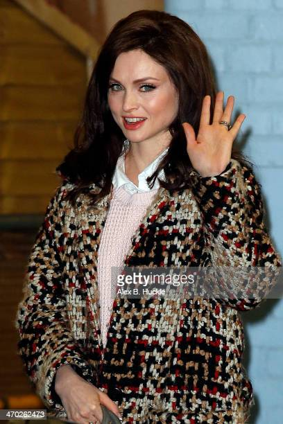 Sophie Ellis Bextor sighted at the ITV Studios in London on February 19 2014 in London England