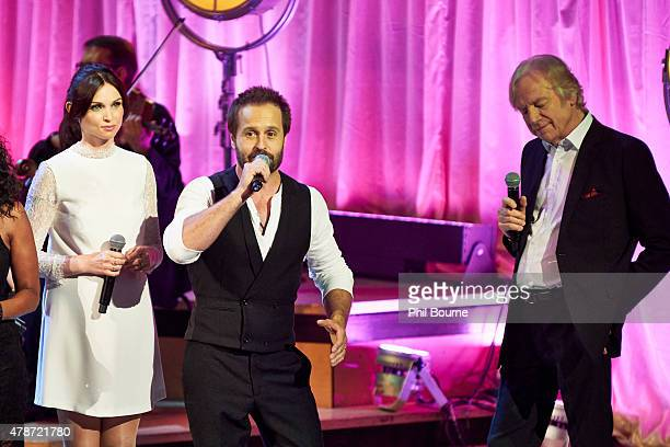 Sophie EllisBextor Alfie Boe and Justin Hayward perform at the Burt Bacharach A Life In Song concert at the Royal Festival Hall on June 26 2015 in...