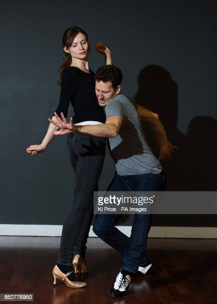 Sophie EllisBextor and Brendon Cole rehearse for the Swingathon on the BBC programme Strictly Come Dancing