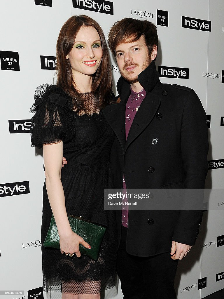 Sophie Ellis-Bextor (L) and Richard Jones arrive at the InStyle Best Of British Talent party in association with Lancome and Avenue 32 at Shoreditch House on January 30, 2013 in London, England.