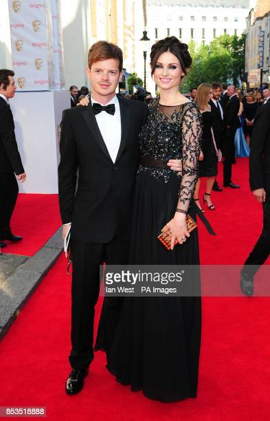 Sophie EllisBextor and Richard Jones arriving for the 2014 Arqiva British Academy Television Awards at the Theatre Royal Drury Lane London