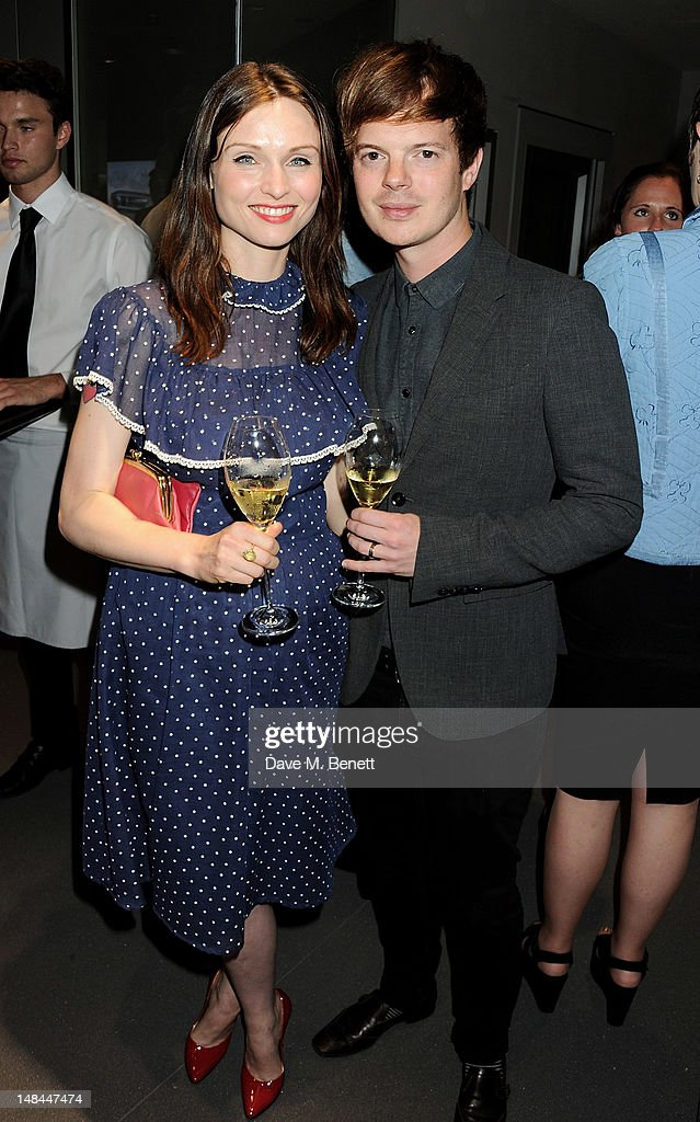 Sophie Ellis-Bextor (L) and Richard Jones attend a party celebrating the global launch of Audi City, Audi's first digital showroom, featuring an art installation by Chris Cunningham, on July 16, 2012 in London, England.