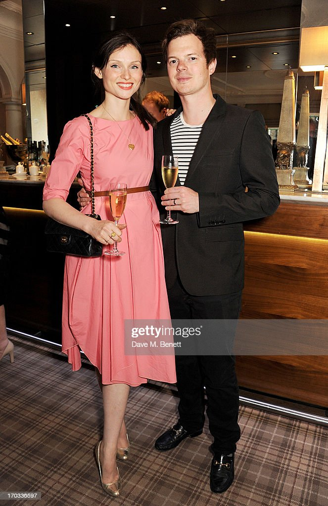 Sophie Ellis-Bextor (L) and Richard Jones attend a private dinner previewing the new 'Alex James Presents' Blue Monday cheese at The Cadogan Hotel on June 11, 2013 in London, England.