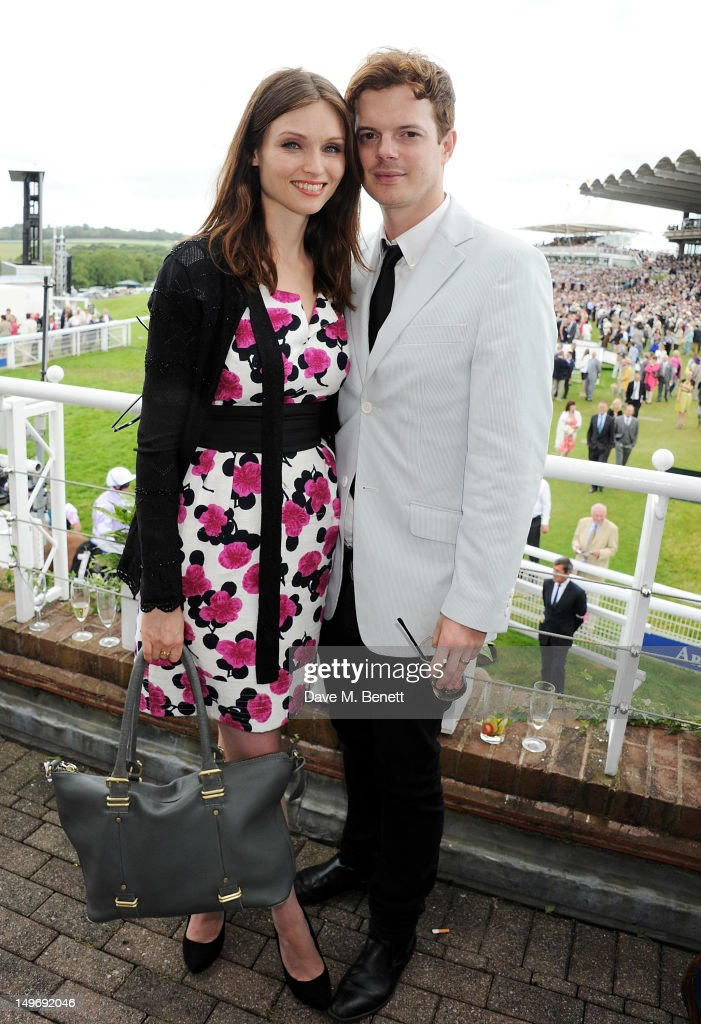 Sophie Ellis-Bextor (L) and Richard Jones attend Ladies Day at Glorious Goodwood held at Goodwood Racecourse on August 2, 2012 in Chichester, England.
