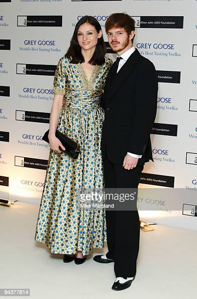 Sophie EllisBextor and Richard Jones attend the Grey Goose Character Cocktails winter fundraiser in aid of the Elton John AIDS Foundation at The...