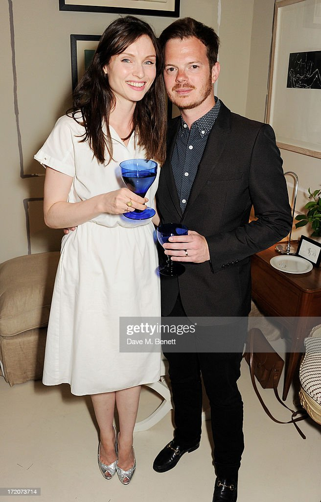 <a gi-track='captionPersonalityLinkClicked' href=/galleries/search?phrase=Sophie+Ellis-Bextor&family=editorial&specificpeople=213313 ng-click='$event.stopPropagation()'>Sophie Ellis-Bextor</a> (L) and Richard Jones attend the launch of Nicky Haslam's new album 'Midnight Matinee' on July 1, 2013 in London, England.