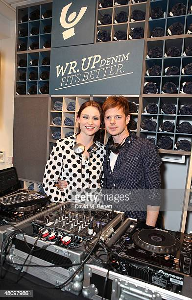 Sophie EllisBextor and Richard Jones attend the opening of the new Freddy store on King's Road on March 27 2014 in London England