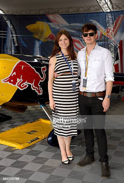 Sophie EllisBextor and Richard Jones attend the Red Bull Air Race World Championships at Ascot Racecourse on August 16 2015 in Ascot England