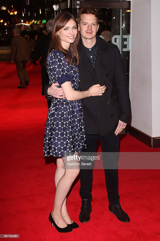 Sophie Ellis-Bextor and Richard Jones attend the UK Premiere of 'The Hunger Games: Catching Fire' at Odeon Leicester Square on November 11, 2013 in London, England.