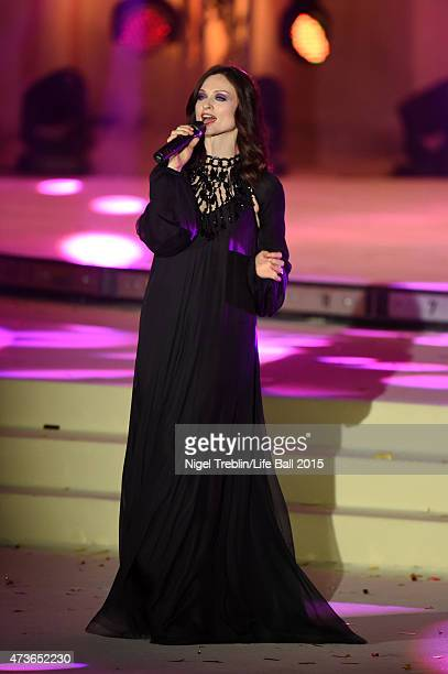 Sophie EllisBextor attends the Life Ball 2015 show at City Hall on May 16 2015 in Vienna Austria