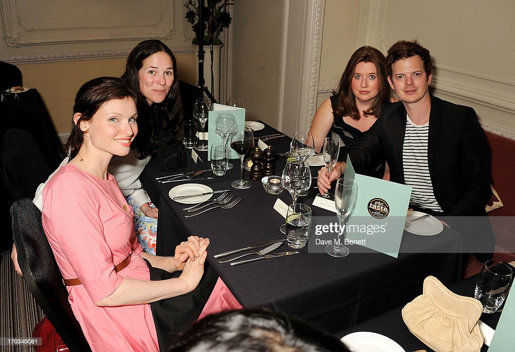 Sophie Ellis-Bextor, Claire James, Elaine Foran and Richard Jones attend a private dinner previewing the new 'Alex James Presents' Blue Monday cheese at The Cadogan Hotel on June 11, 2013 in London, England.
