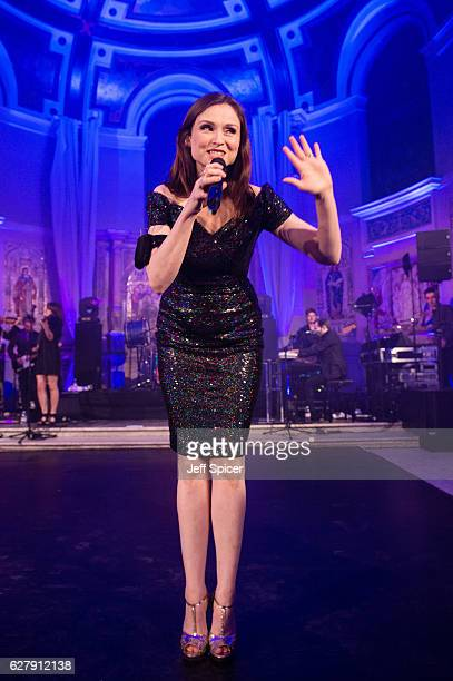 Sophie EllisBextor performs during the Eastern Seasons Gala Dinner at One Marylebone on December 5 2016 in London England