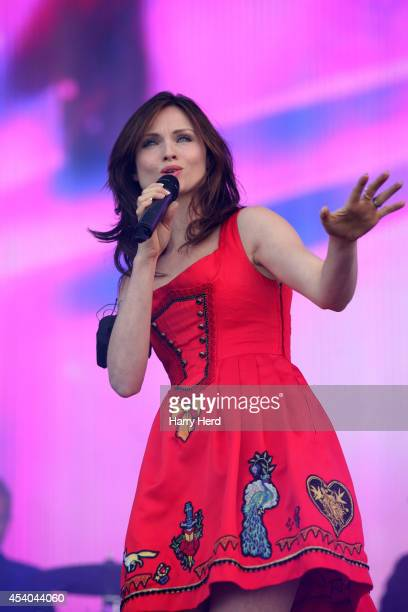 Sophie EllisBextor performs on stage at Victorious Festival at Southsea Seafront on August 23 2014 in Portsmouth United Kingdom